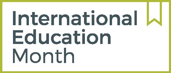 International Education Month logo