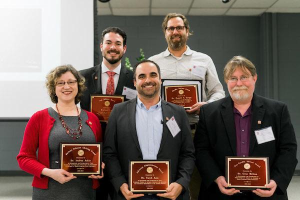 Group photo of Academic Advising Award Winners