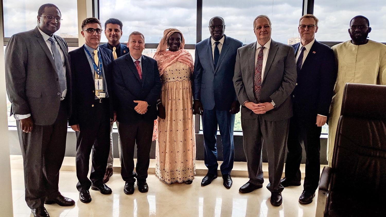 NC State leaders in Senegal