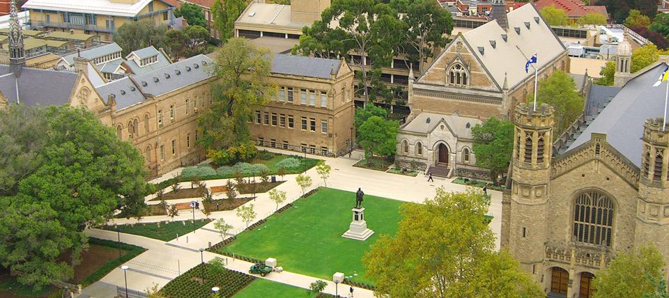 University of Adelaide aerial campus shot